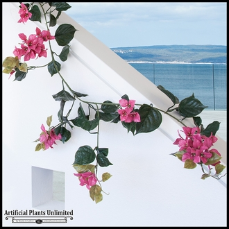 9.5' Bougainvillea Vine Garland - Fuchsia, Outdoor Rated