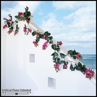 9.5' Bougainvillea Vine Garland - Lavender/Fuchsia, Outdoor Rated