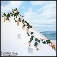 9.5' Bougainvillea Vine Garland - Peach/Pink/Cream, Outdoor Rated
