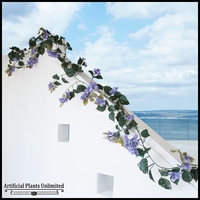 9.5' Bougainvillea Vine Garland - Purple, Outdoor Rated