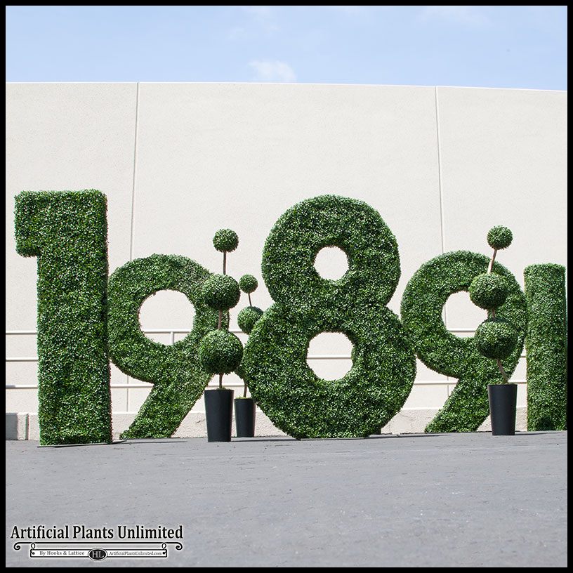 custom outdoor artificial topiary shapes, logos | artificial plants Artificial Shrubs and Plants