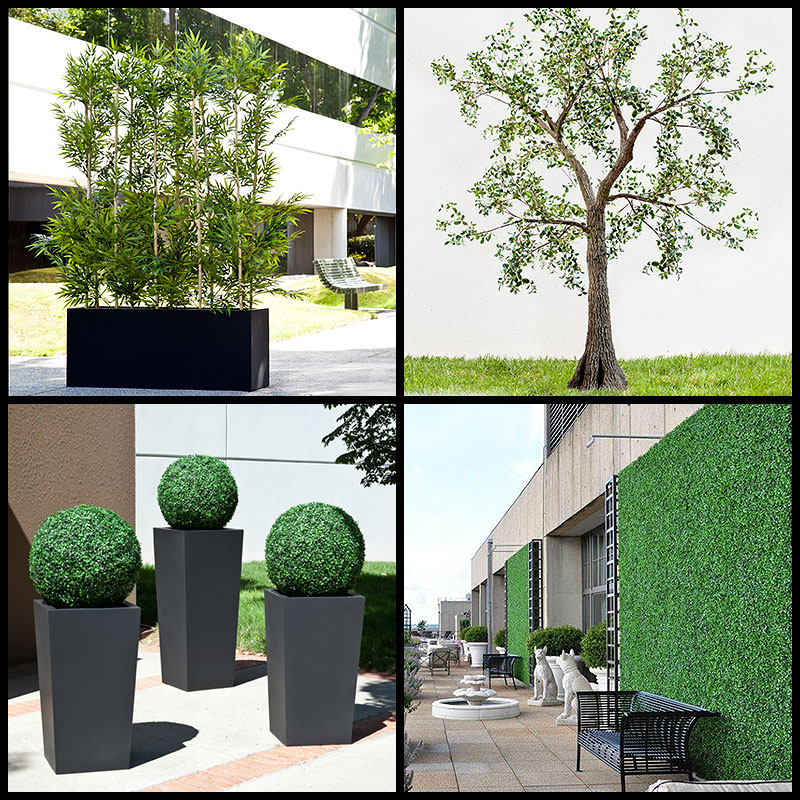 artificial outdoor plants, artificial hedges, outdoor fake plants Artificial Bushes and Trees