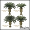 3' Large Sago Palm Cluster, Outdoor Rated