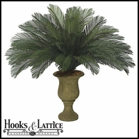44in. Large Sago Palm Cluster, Outdoor Rated