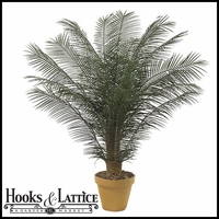 Outdoor Rated 6 ft Artificial Phoenix Palm Cluster