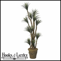 Outdoor Rated 7 Foot Liriope Tree with Natural Trunks
