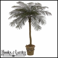 Outdoor Rated 7 ft Artificial Phoenix Palm Tree