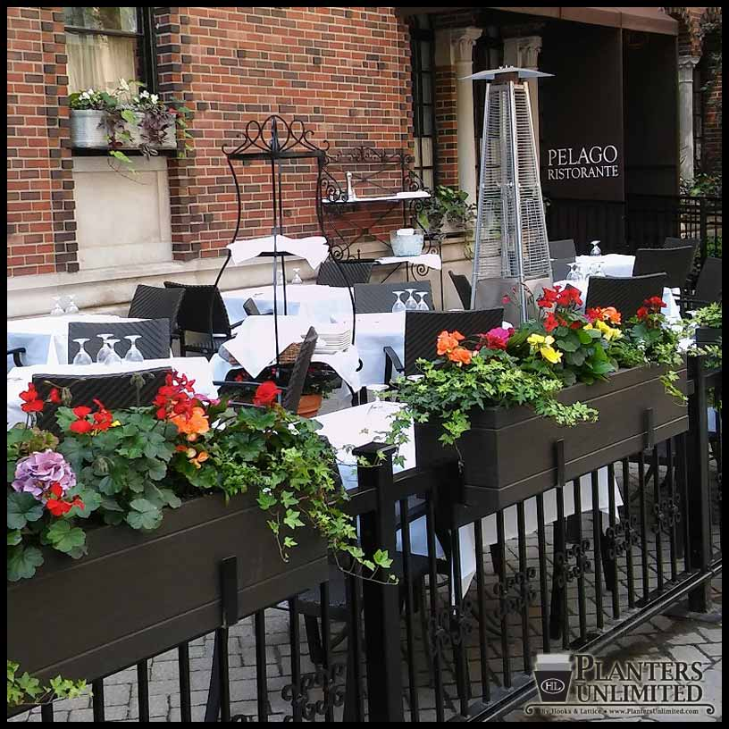 Commercial Walls Landscape Design: Restaurant Planters - Commercial Outdoor