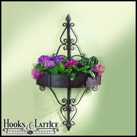 Oversized Iron Two Section Wall Planter With Removable Liner