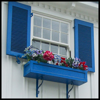 painting pvc window boxes and shutters