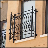 Palacio Iron Faux Balcony w/ 9.75in. Offset