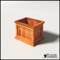 Palo Alto Redwood Commercial Planter 24in.L x 18in.W x 18in.H