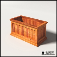 Palo Alto Redwood Commercial Planter 36in.L x 18in.W x 18in.H