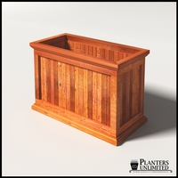 Palo Alto Redwood Commercial Planter 36in.L x 18in.W x 24in.H