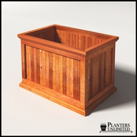 Palo Alto Redwood Commercial Planter 36in.L x 24in.W x 24in.H