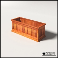 Palo Alto Redwood Commercial Planter 48in.L x 18in.W x 18in.H