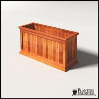 Palo Alto Redwood Commercial Planter 48in.L x 18in.W x 24in.H