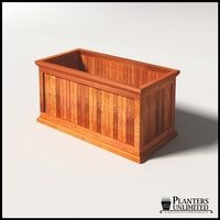 Palo Alto Redwood Commercial Planter 48in.L x 24in.W x 24in.H
