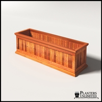 Palo Alto Redwood Commercial Planter 60in.L x 18in.W x 18in.H
