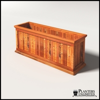 Palo Alto Redwood Commercial Planter 60in.L x 18in.W x 24in.H