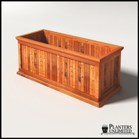 Palo Alto Redwood Commercial Planter 60in.L x 24in.W x 24in.H