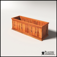 Palo Alto Redwood Commercial Planter 72in.L x 24in.W x 24in.H