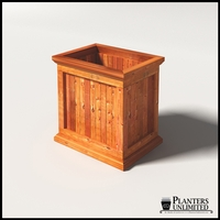 Palo Alto Redwood Commercial Planter 24in.L x 18in.W x 24in.H