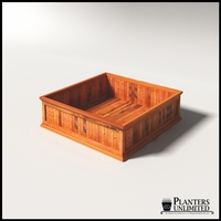 Palo Alto Redwood Commercial Planter 60in.L x 60in.W x 18in.H