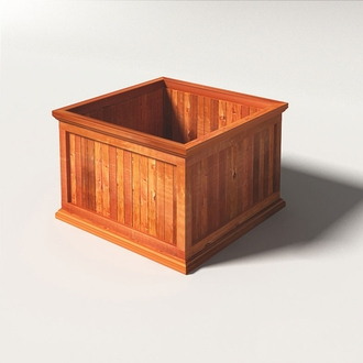 Palo Alto Redwood Outdoor Planters - Square Design