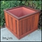 Palo Alto Redwood Planters with Heavyweight Plastic Liners