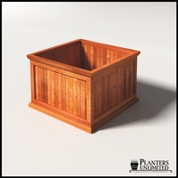 Palo Alto Redwood Commercial Planter 24in.L x 24in.W x 18in.H