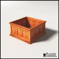 Palo Alto Redwood Commercial Planter 36in.L x 36in.W x 18in.H