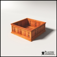Palo Alto Redwood Commercial Planter 48in.L x 48in.W x 18in.H