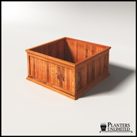 Palo Alto Redwood Commercial Planter 48in.L x 48in.W x 24in.H