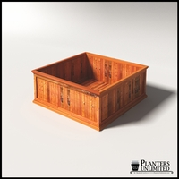 Palo Alto Redwood Commercial Planter 60in.L x 60in.W x 24in.H