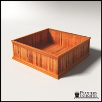 Palo Alto Redwood Commercial Planter 72in.L x 72in.W x 24in.H