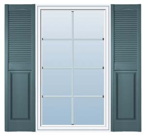 Panel And Louvered Vinyl Exterior Shutters Steal The Show
