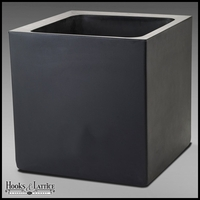 Paradiso 19in. Square Planter in Caviar Black