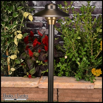 Pathway Landscape Lighting Kit in Weathered Brass