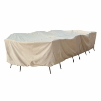 Patio Furniture Covers - For 2X - Large Oval/Rectangular Table & Chairs - No Hole
