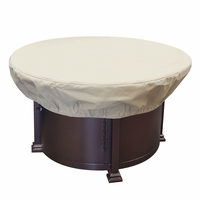 "Patio Furniture Covers - For 36 - 42"" Round Chat & Fire Pits w/ Elastic"