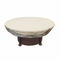 "Patio Furniture Covers - For 48 - 54"" Round Chat & Fire Pits w/ Elastic"