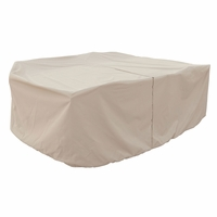Patio Furniture Covers - For All Medium Oval Table & Chairs - With Hole