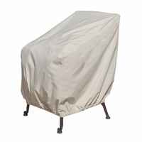 Patio Furniture Covers - For Wicker Lounge Chair - Straight Back Or Contoured