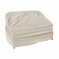 Patio Furniture Covers - For Wicker Loveseat - Straight Back Or Contoured