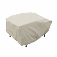 Patio Furniture Covers - For Wicker Ottoman w/ Elastic