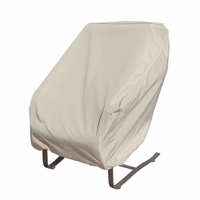Patio Furniture Covers - For Wicker Rocking Chair - Straight Back Or Contoured