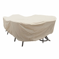 Patio Furniture Covers - For X - Large Oval/Rectangular Table & Chairs - No Hole