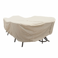 Patio Furniture Covers - For X - Large Oval/Rectangular Table & Chairs - With Hole