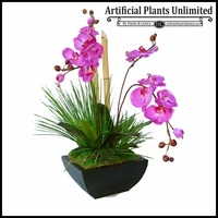 Phalaenopsis Arrangement with Bamboo and Grass
